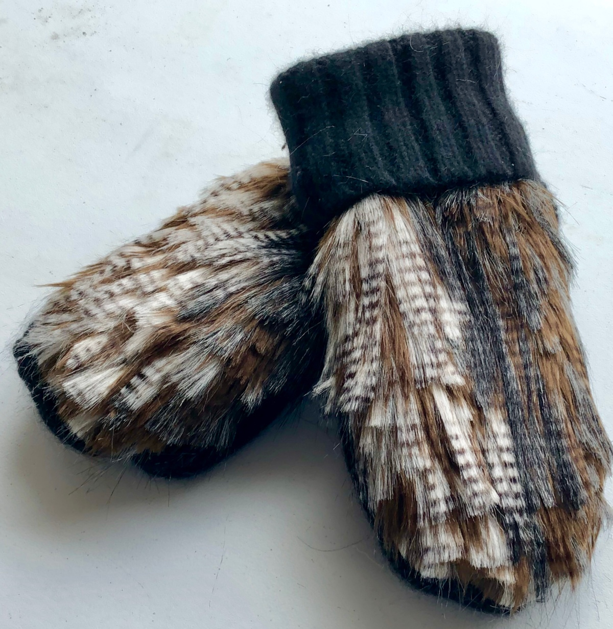 DIY Upcycled Faux Fur Mittens and Tips for Sewing with Fur
