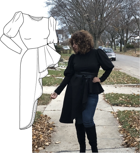 Pattern Hack Tutorial: DIY Puff Sleeve Peplum Top Using McCalls 7722
