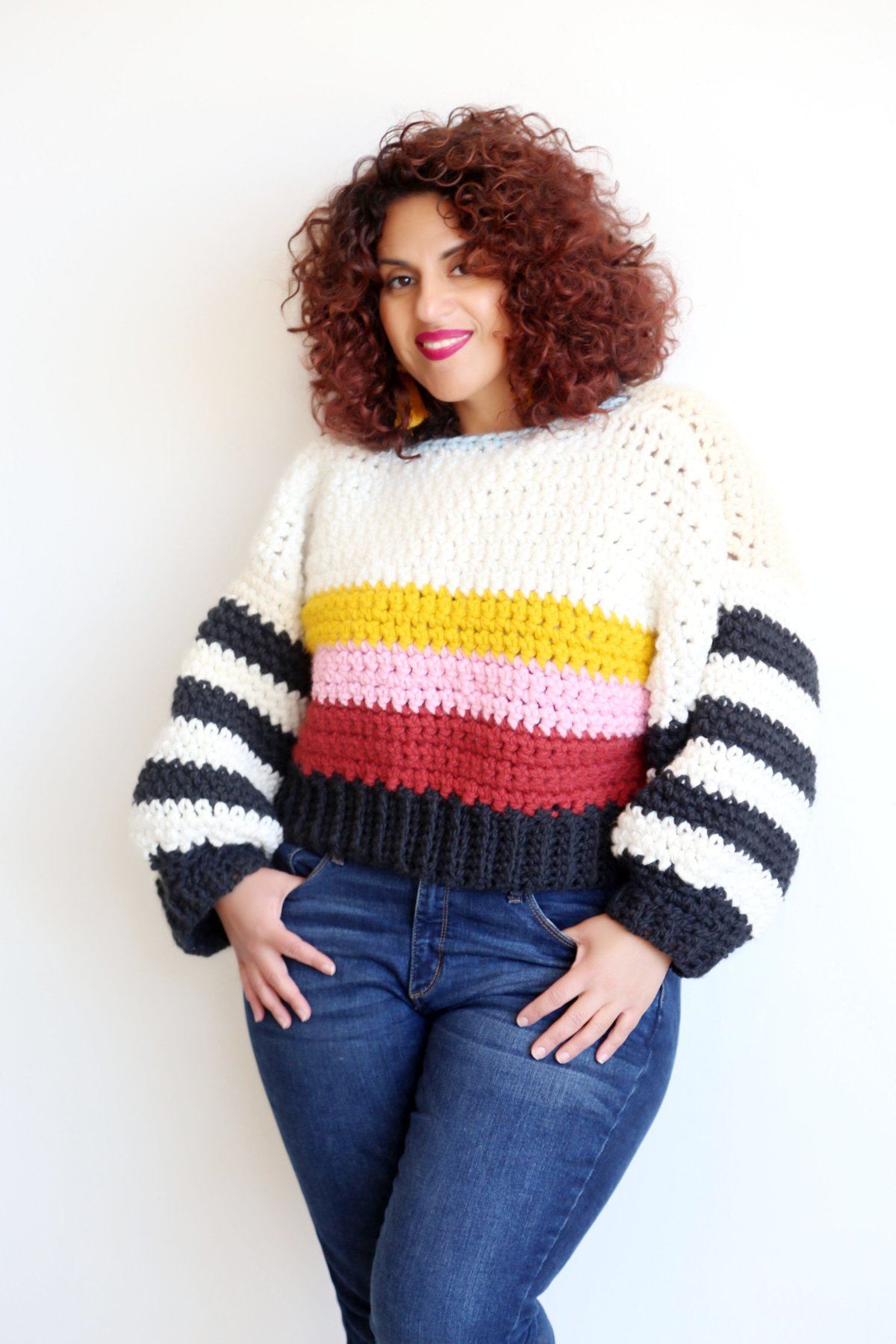 DIY Cropped Chunky Crochet Sweater