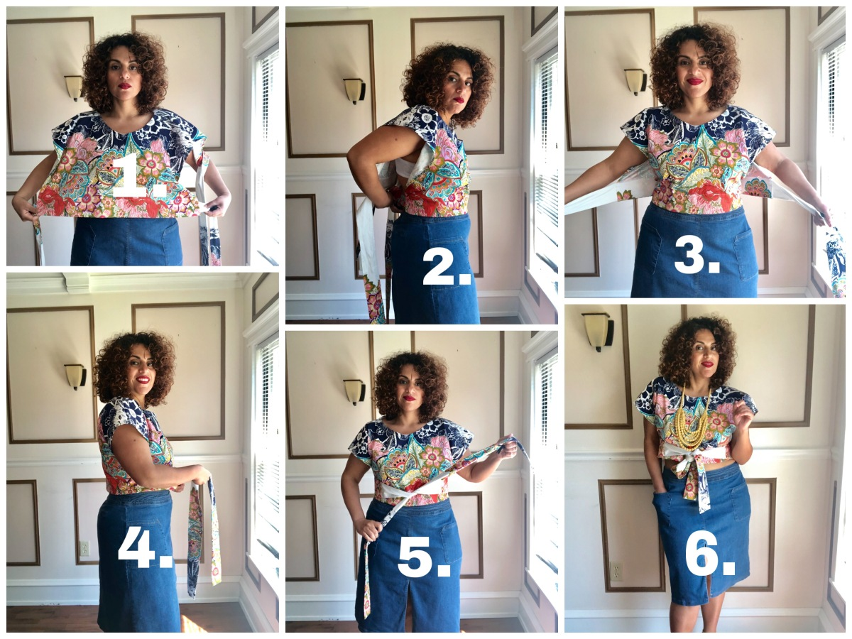 Shift Your Perspective: DIY 40s Inspired Wrap Top