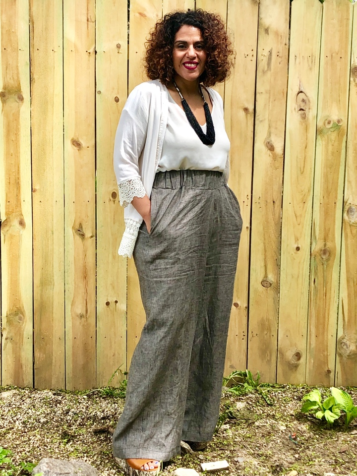 DIY Linen Pants Using Simplicity 8389